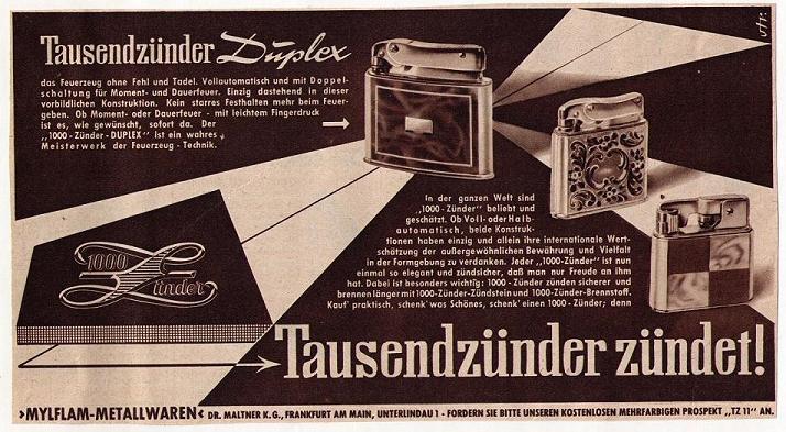mylflam werbung 1945 1965. Black Bedroom Furniture Sets. Home Design Ideas
